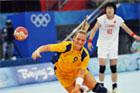 女子手球瑞典19-20负中国