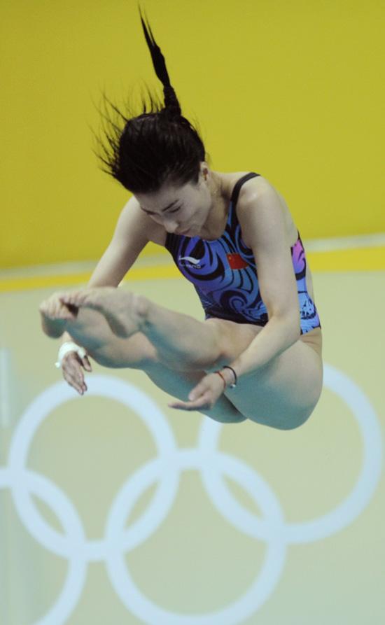 图文-[奥运]女子跳水三米板 郭晶晶完美的谢幕演出