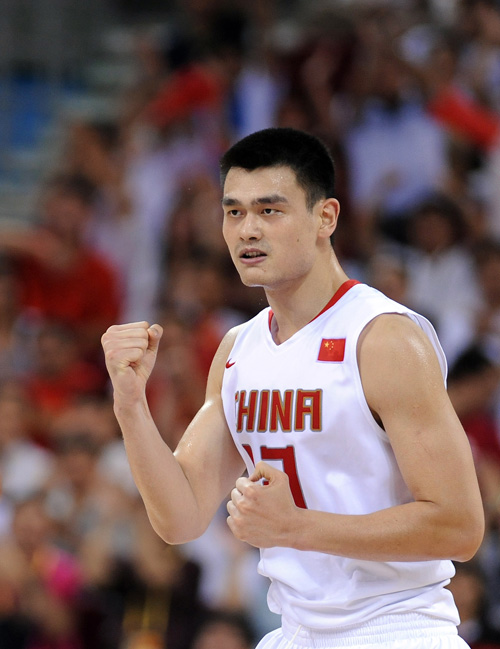 图文-[奥运]男篮59-55德国 姚明:今天打得真痛快
