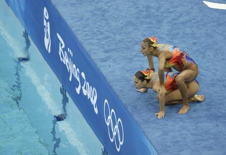 花样游泳双人技术自选预赛