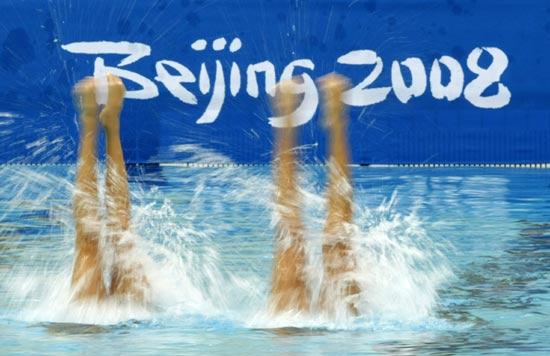 图文-奥运花样游泳经典瞬间 冰凌花盛开