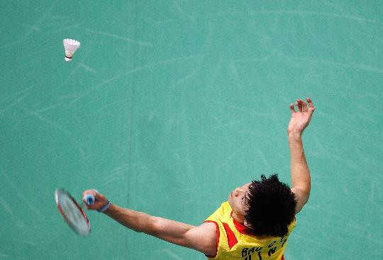 图文-羽毛球男单11日精彩战况 换个角度看比赛
