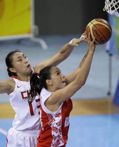 女篮季军争夺中国VS俄罗斯