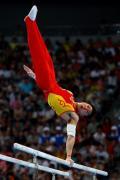 图文-奥运会男子体操资格赛开战 李小鹏单臂支撑