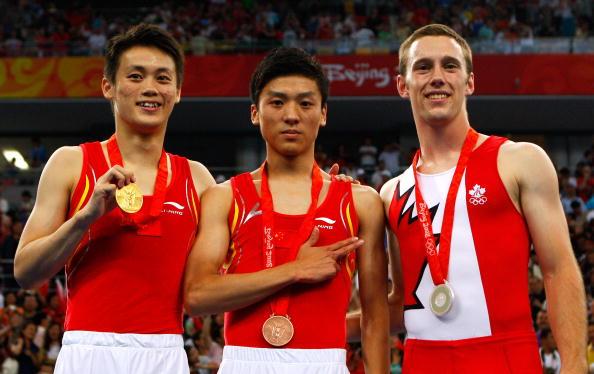 图文-奥运会蹦床男子个人决赛 中国小将实力不凡