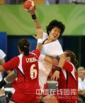 图文-[女子手球]中国23-30挪威 14号大鹏展翅
