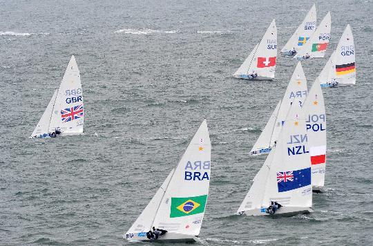 图文-帆船男子龙骨艇星级英国夺金 实力差距不大