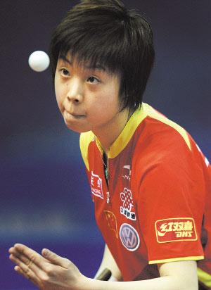 张怡宁:卫冕的感觉就像蜗牛 奥运后带家人去夏威夷