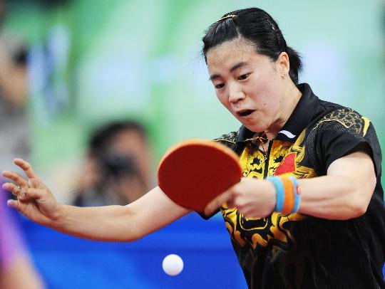图文-王楠晋级乒乓球半决赛 王楠眼疾手更快