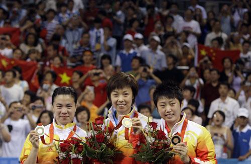 女乒决赛中国包揽金银铜