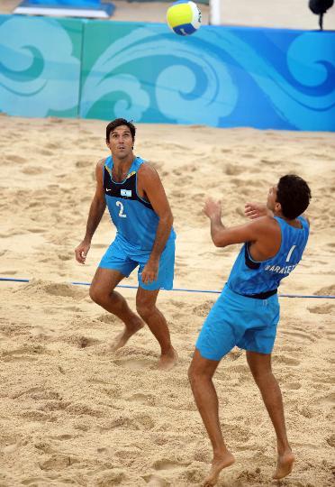图文-[沙排]阿根廷2-0拉脱维亚 快来帮我一下