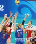 图文-女子排球1/4决赛打响 比赛难度不小