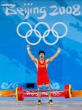 图文-男子举重85公斤级决赛 陆永成功振臂高呼