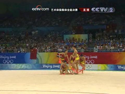 视频-艺术体操集体全能决赛 曼妙音乐中惊现咆哮声