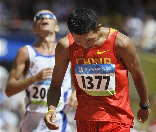 图文-男子20公里竞走决赛 我国选手王浩获得第四