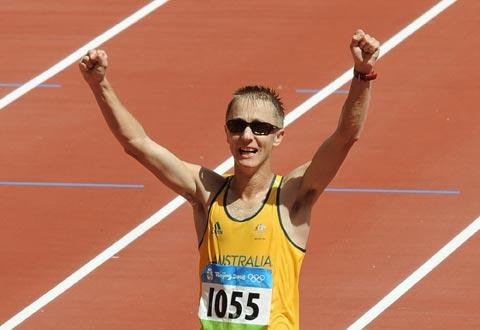 图文-男子20公里竞走决赛 塔伦特获得第三名