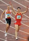 图文-十项全能100米赛况 中国选手齐海峰小组第二