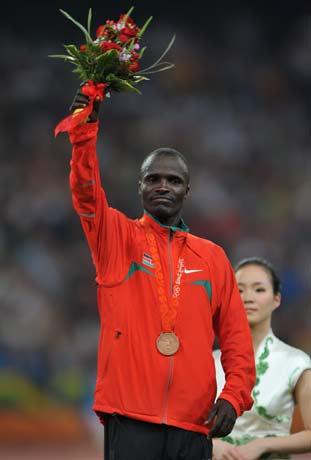 图文-[奥运]田径男子5000米决赛 获奖就是骄傲
