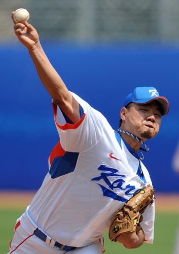 图文-19日棒球预赛赛况 急速传球