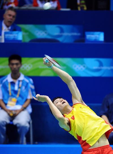 图文-奥运会羽毛球男单赛 再难的球我也接得住