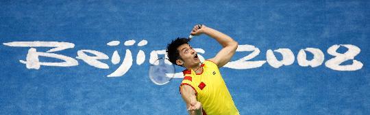 图文-羽毛球男单林丹顺利晋级 林丹锁定胜利