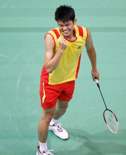 图文-羽毛球男单林丹顺利晋级 超级丹喜出望外