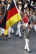 图文-[开幕式]德国代表团入场 诺维茨基走在前排