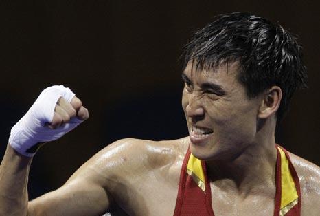 图文-19日奥运拳击赛场赛况 让你尝尝我的拳头