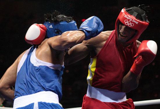 图文-20日奥运赛场拳击赛况 看谁更勇猛些