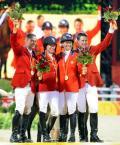 图文-马术/障碍赛公开团体决赛 四位金牌得主