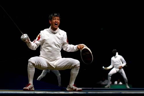 图文-中国进入男子重剑团体1/4决赛 胜利如此美妙