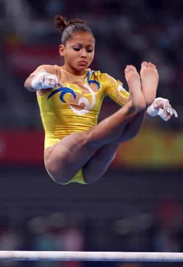 图文-女子体操资格赛赛况 委内瑞拉选手杰茜卡