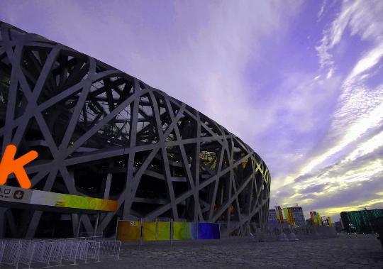 资料图片:国家体育场鸟巢美景--美景如画
