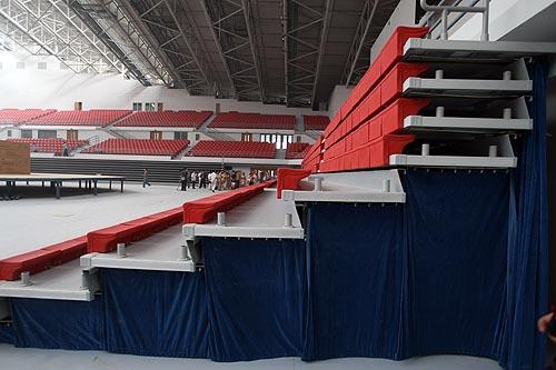 资料图片:中国农业大学体育馆--场馆临时座席