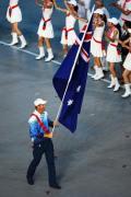 图文-开幕式入场仪式 澳大利亚代表团的旗手汤姆金斯