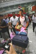 图文-伊拉克代表团抵京 海德尔-纳赛尔走出机场