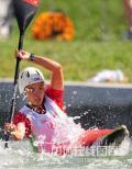 图文-北京奥运会女子单人皮艇 荡起单桨