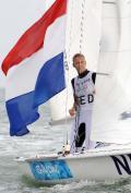 图文-女子双人艇470级决赛赛 荷兰队在比赛中