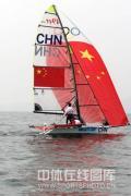 图文-奥运帆船帆板精彩回顾 中国帆船在比赛中