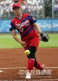 图文-女子垒球预赛中国胜荷兰 中华台北队投手投球