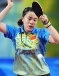 图文-[乒乓球]王楠进入女单八强 看准球路扣球