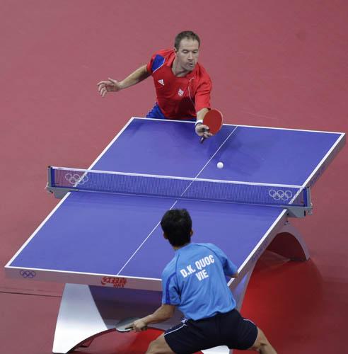 图文-奥运会19日乒乓球比赛赛况 你推我挡来较量