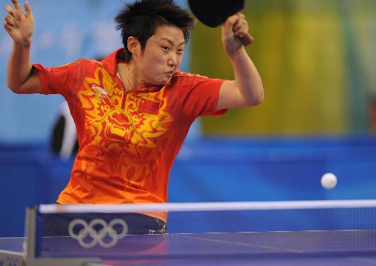 图文-乒乓球女单郭跃晋级半决赛 球速超快