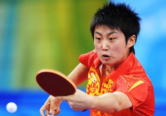 图文-乒乓球女单郭跃晋级半决赛 郭跃凶猛进攻