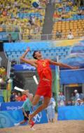 图文-中国胜奥地利 徐林胤在比赛中