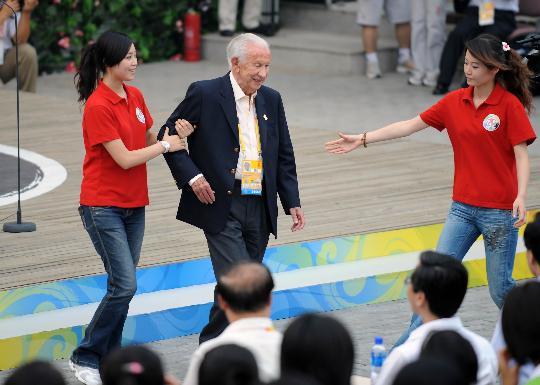 图文-2008奥林匹克青年营开营仪式 萨马兰奇先生