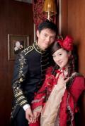 图文-佩剑冠军仲满结婚照 执子之手