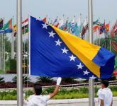 各代表团奥运村升旗仪式