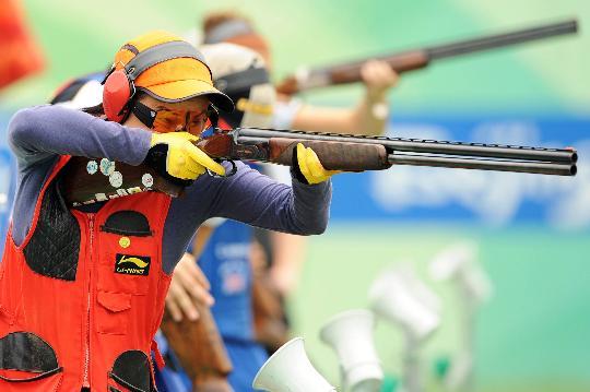 图文-08奥运会射击比赛集锦 女子飞碟多向的神枪手