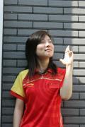图文-中国射击队酷帅写真 杜丽酷酷表情
